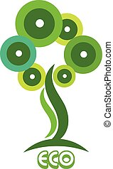 Ecological Green Tree logo