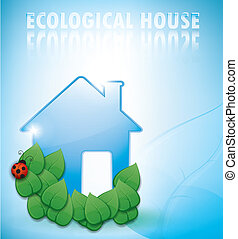 ecological house illustration