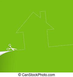 Ecological housing concept illustration.