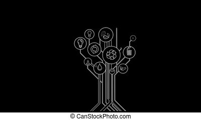 Ecological Icons Tree With Alpha Channel