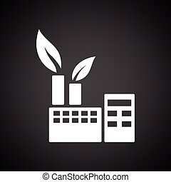 Ecological industrial plant icon