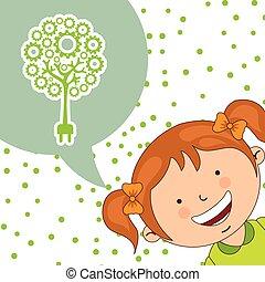 ecological kids design, vector illustration eps10 graphic
