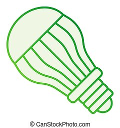 Ecological light bulb flat icon. Electric gray icons in trendy flat style. Eco lamp gradient style design, designed for web and app. Eps 10.