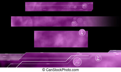 Ecological Lower Thirds. Purple