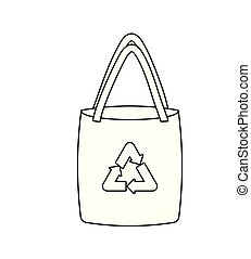 ecological paper bag isolated icon