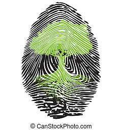 Ecological signature - Illustration of the ecological...
