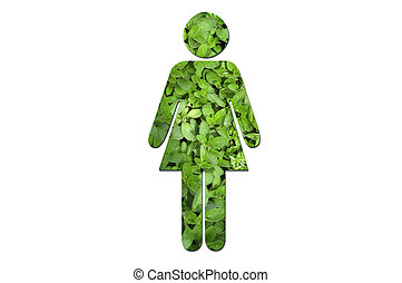 Ecological woman