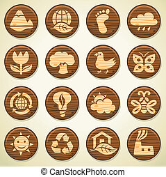 Ecological wooden icons