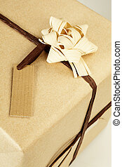 Ecological wrapped present. - Beautifully naturally wrapped...