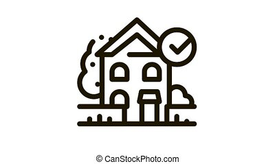 ecologically clean territory Icon Animation. black ecologically clean territory animated icon on white background