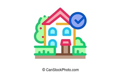 ecologically clean territory Icon Animation. color ecologically clean territory animated icon on white background