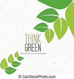 ecologico, mente, disegno