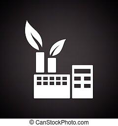 ecologico, pianta industriale, icona