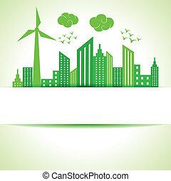 ecologie, concept-, sparen, natuur