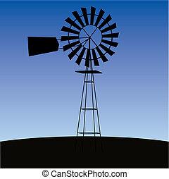 ecologie, concept:, wind-deefv