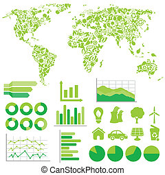 ecologie, en, milieu, infographics