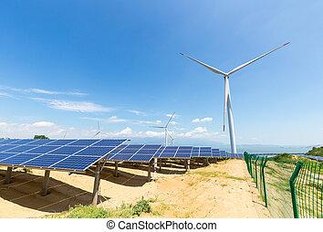 ecologie, landscape, van, schone energie