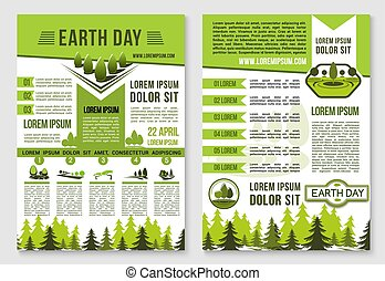 ecologie, ontwerp, mal, informatieboekje , aarden dag aan