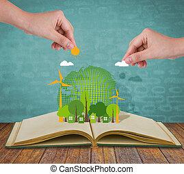 ecologie, opengeslagen boek