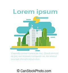 ecologie, ruimte, abstract, fabriek, milieu, fabriekshal, infographic, kopie