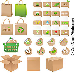 ecologisch, set, container