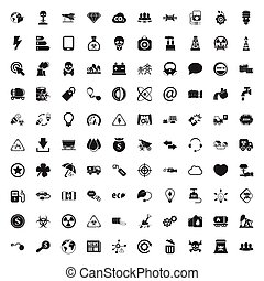 ecology 100 icons set for web flat