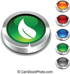 Ecology 3d button set. Vector illustration.
