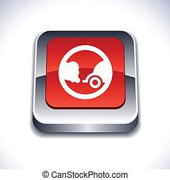 Ecology 3d button.