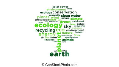 Ecology and environment concept - Ecology slogans coming...