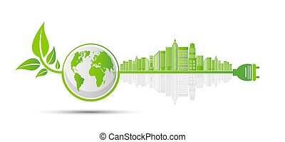 Ecology and Environmental Concept, Earth Symbol With Green ...