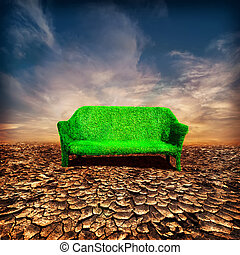 Ecology and global warming concept