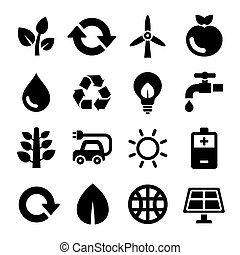 Ecology and Recycle Icons Set. Vector illustration