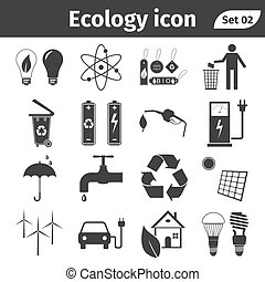 Ecology and recycle icons vector set