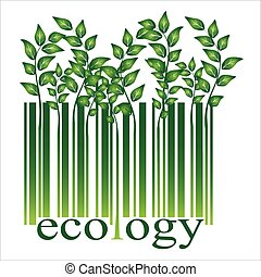 Ecology bar code, vector