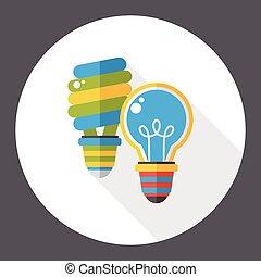 ecology bulb flat icon