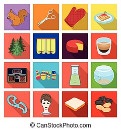 ecology, business, travel and other web icon in flat style. nature, rest, cooking, icons in set collection.