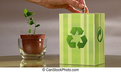 Ecology campaign.Vote for recycle.
