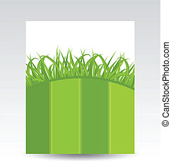 Ecology card with green grass