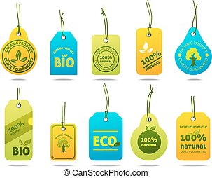 Ecology Cardboard Labels - Ecology bio fuel natural organic...
