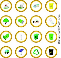 Ecology cartoon icon circle