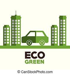 ecology city green icon