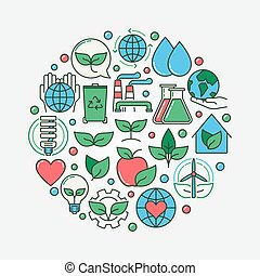 Ecology colorful illustration