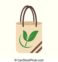 Ecology concept, eco-friendly fabric bag ideas. Vector ...