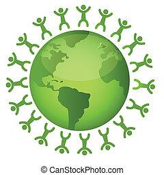 ecology concept green illustration