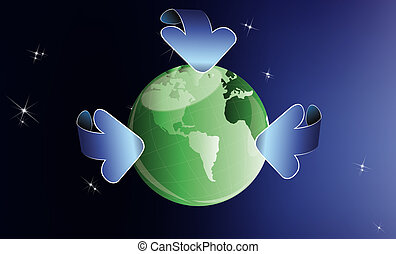 Ecology concept. Healthy planet