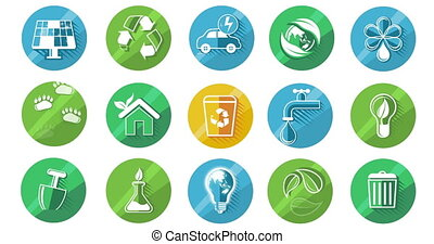 Ecology Concept Icon Set