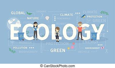 Ecology concept illustration.