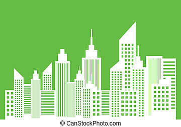 Ecology Concept Of Modern City