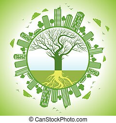 ecology concept - save earth
