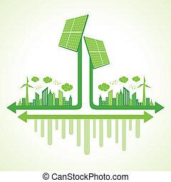 Ecology concept solar panel